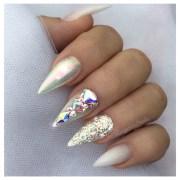 chrome and bling glitter nails