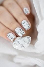white stone marble nails - nail