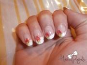 strawberry french manicure - nail