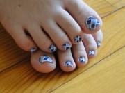 abstract toe - nail art