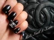 chanel inspired nails - nail art