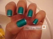 turquoise matte - nail art