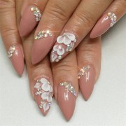 bling wedding nails - nail art