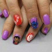 lilo and stitch nails - nail art