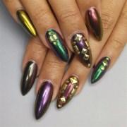 chrome mardi gras nails - nail