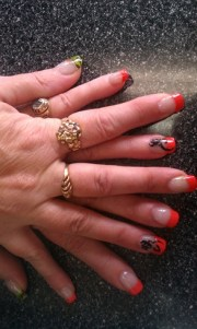 browning deer - nail art