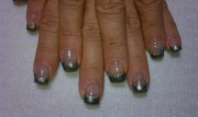 shooting star - nail art