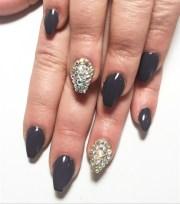dark grey - nail art