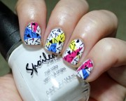 90's geometric nails - nail art