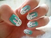 cute easy bunny nails - nail art