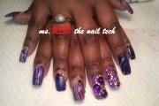 royal purple - nail art