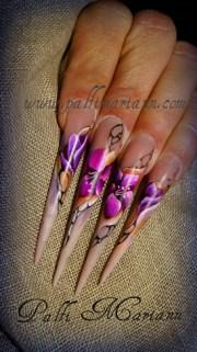 acrylic paint - nail art