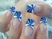 gorgeous blue tip design - nail