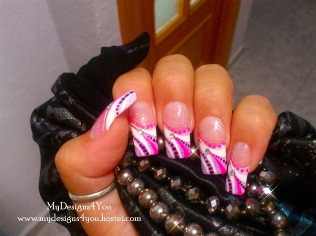 Violet Glitter Nails Nail Art Tutorials Nailart Gallery