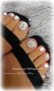 diy wedding toenail art design