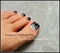 Black & White Toenail Art Design - Nail Art Gallery