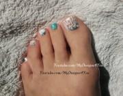 seashell toenail art design - nail