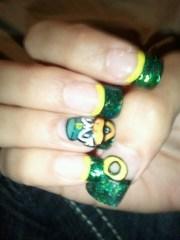 oregon duck nails - nail art