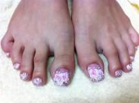 Short Acrylic Toes - Nail Art Gallery