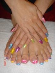 medium acrylic nails & toes - nail