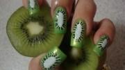 kiwi - nail art