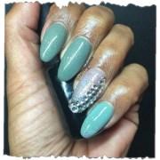 sage shellacit - nail art