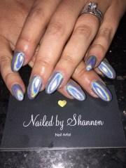 chrome nails unicorn - nail