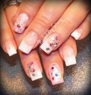pink christmas nails - nail art