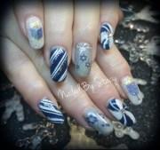 hanukkah nails - nail art