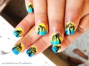 beach nails - nail art