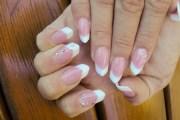 fench edge nails - nail art