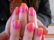 2 tone nails - nail art