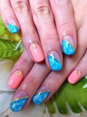 tie-dye gel nails - nail art