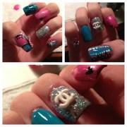 3d chanel - nail art