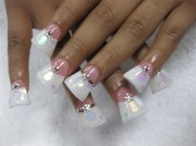 hologram bling pink & white duckfeet
