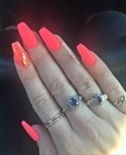 bright pink matte nails - nail