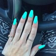 mint green matte nails - nail art