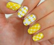 yellow and gray - nail art