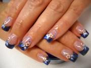 summer blue bronze nails 2010