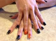halloween black orange and glitter