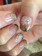 bronze & brown - nail art