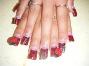 lady bug nails - nail art