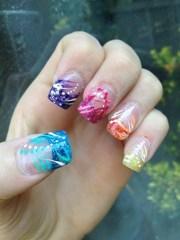glitter tips - nail art