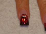 rolling stones - nail art
