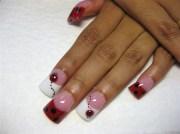 3- lady bugs - nail art