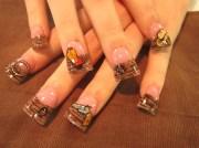western theme - nail art