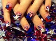 stars and fireworks - nail art