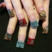 country nails - nail art