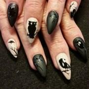 matte halloween - nail art