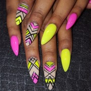 neon mix - nail art